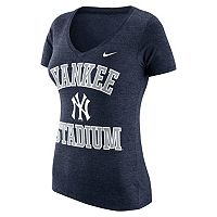 Women's Nike New York Yankees Local Tri-Blend Tee