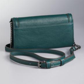 Simply Vera Vera Wang Signature Fold Over Crossbody Bag