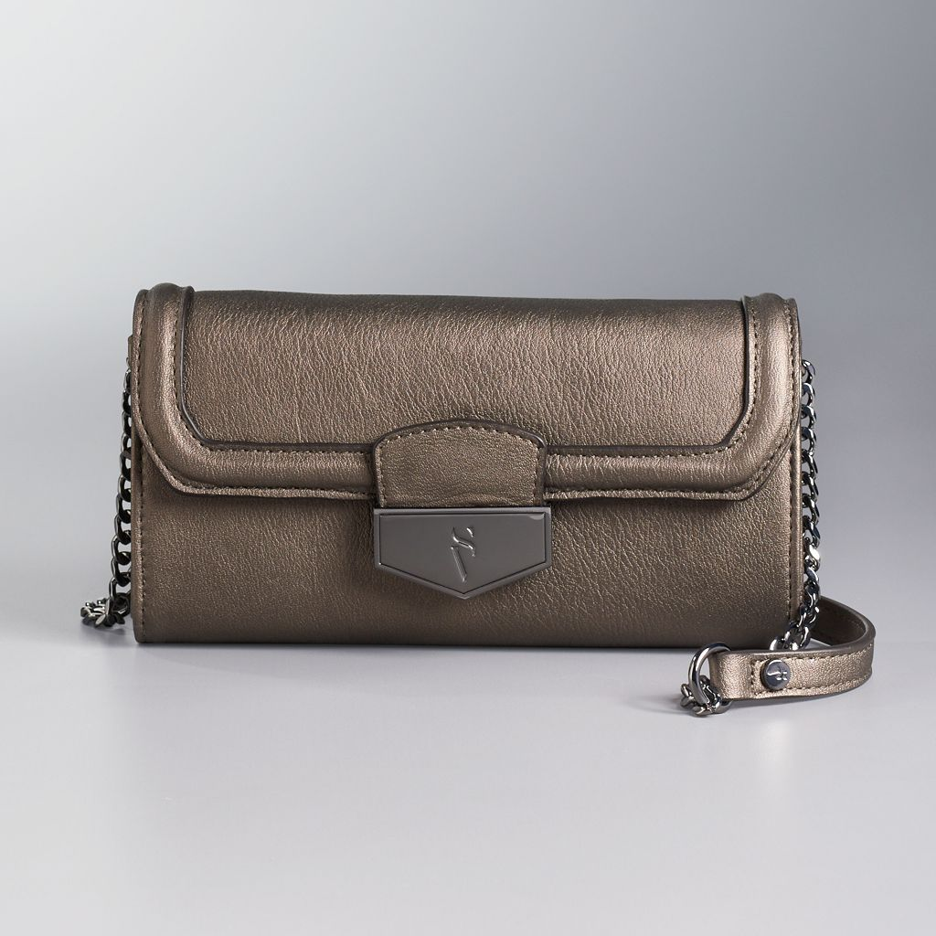 Simply Vera Vera Wang Signature Fold Over Crossbody Bag