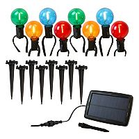 LumaBase Color-Changing Solar Lights 8 pc Set