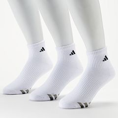 Men's adidas 3-Pack Climalite Performance Quarter Socks