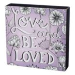 """Be Loved"" Coloring Box Wall Decor"