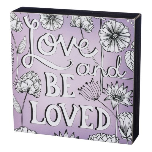 """""""Be Loved"""" Coloring Box Wall Decor"""