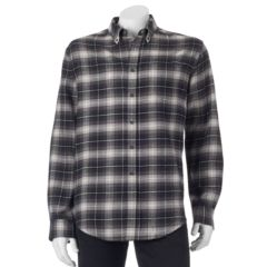 Mens White Croft & Barrow Plaid Button-Down Shirts Flannel ...