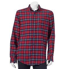 Men's Croft & Barrow® Slim-Fit Plaid Flannel Button-Down Shirt