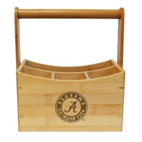 Alabama Crimson Tide Bamboo Utensil Caddy