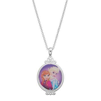 Disney's Frozen Anna & Elsa Kids' Pendant Necklace
