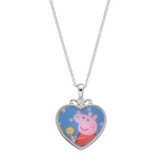Peppa Pig Kids' Heart Pendant Necklace