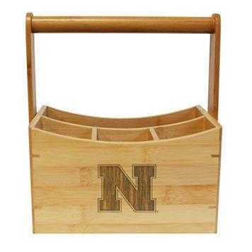 Nebraska Cornhuskers Bamboo Utensil Caddy