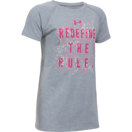 "Girls 7-16 Under Armour Short Sleeve ""Redefine The Rules"" Tee"