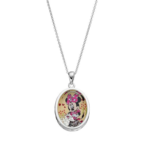 Disney's Minnie Mouse  Kids' Cubic Zirconia Shaker Pendant
