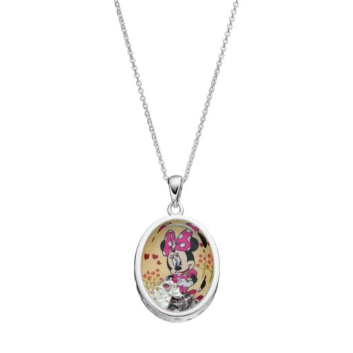 Disney's Minnie Mouse  Kids' Cubic Zirconia Shaker Pendant
