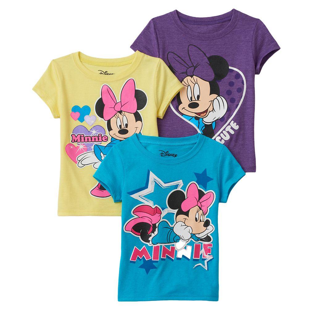 Disney's Minnie Mouse Girls 4-6x 3-pk. Tees