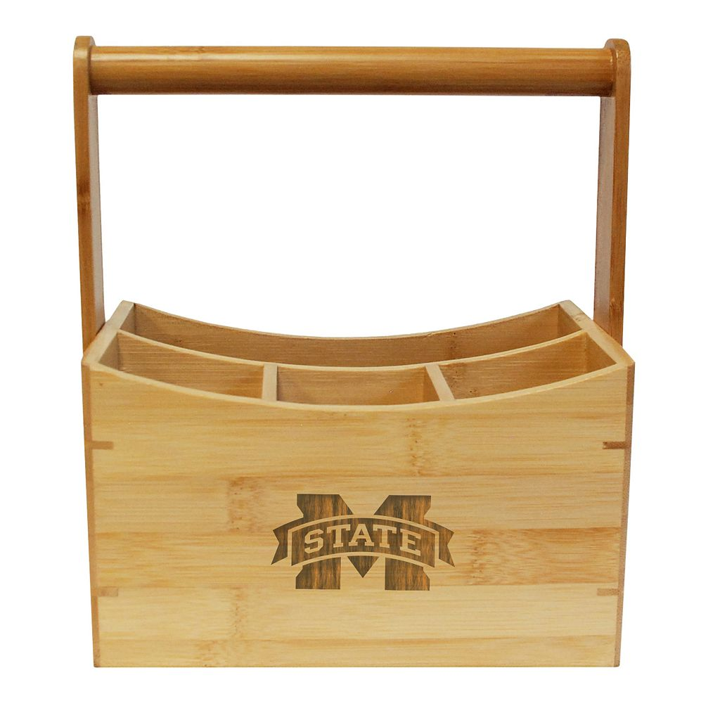 Mississippi State Bulldogs Bamboo Utensil Caddy
