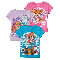 Toddler Girl Paw Patrol Skye & Everest 3-Pack Tees