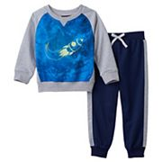 Toddler Boy Only Kids Apparel Rocket Graphic Sweatshirt & Pants Set