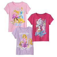 Disney Princess Toddler Girl 3-pk. Short Sleeve Tees