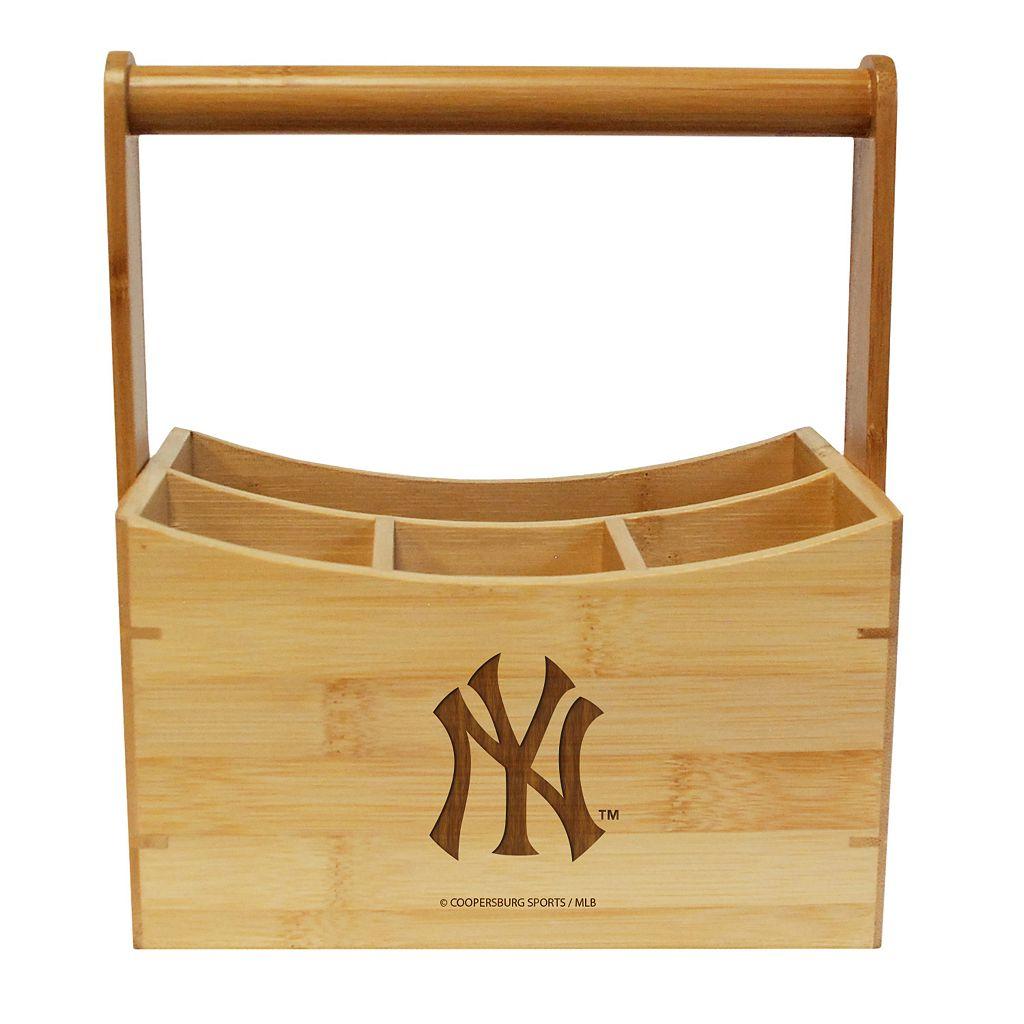 New York Yankees Bamboo Utensil Caddy