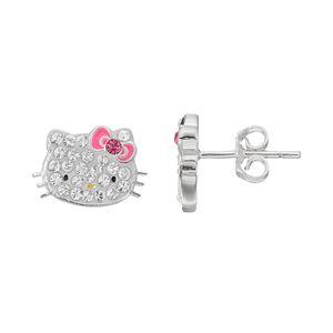Hello Kitty® Kid's Crystal Stud Earrings