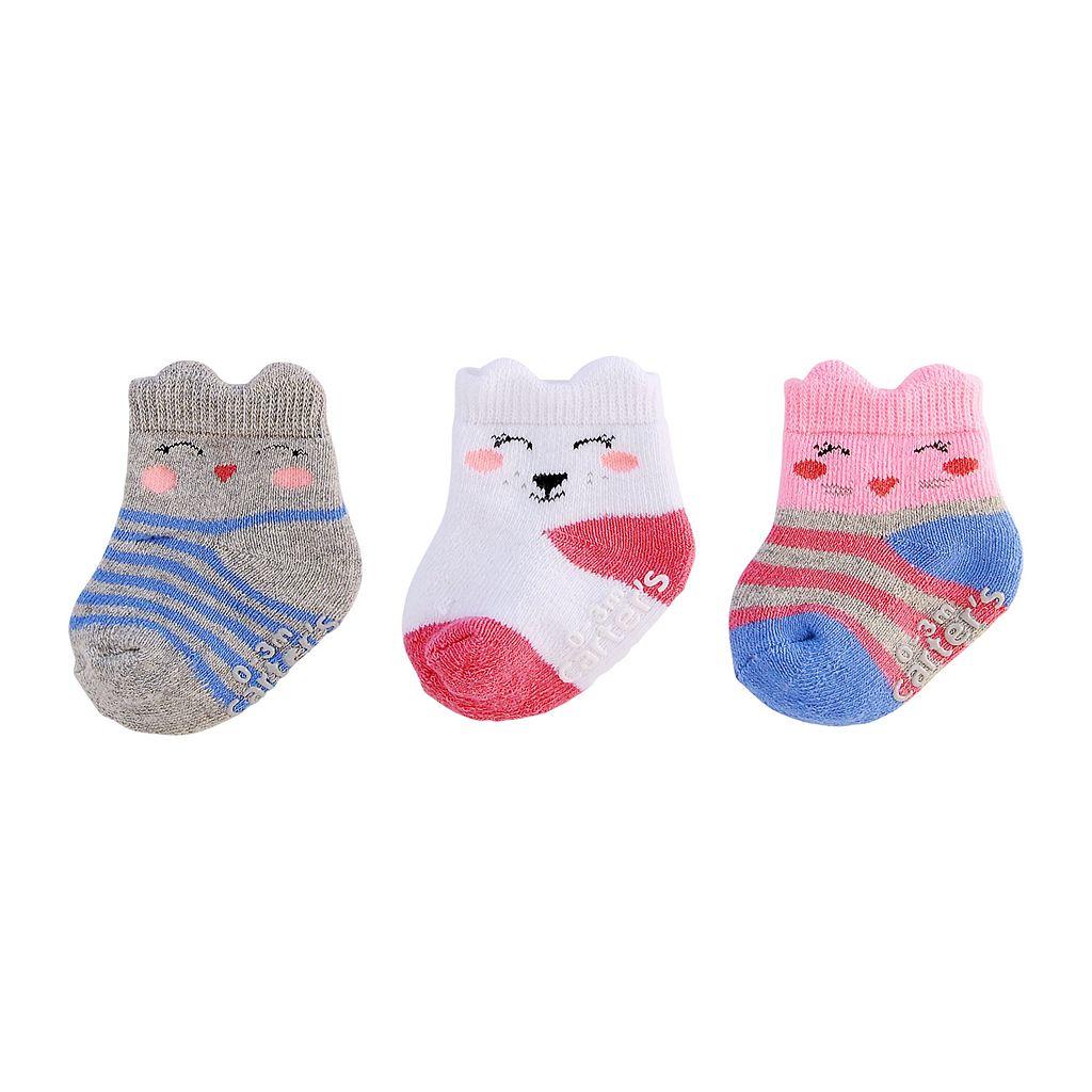 Baby Girl Carter's 3pk. Animal Socks
