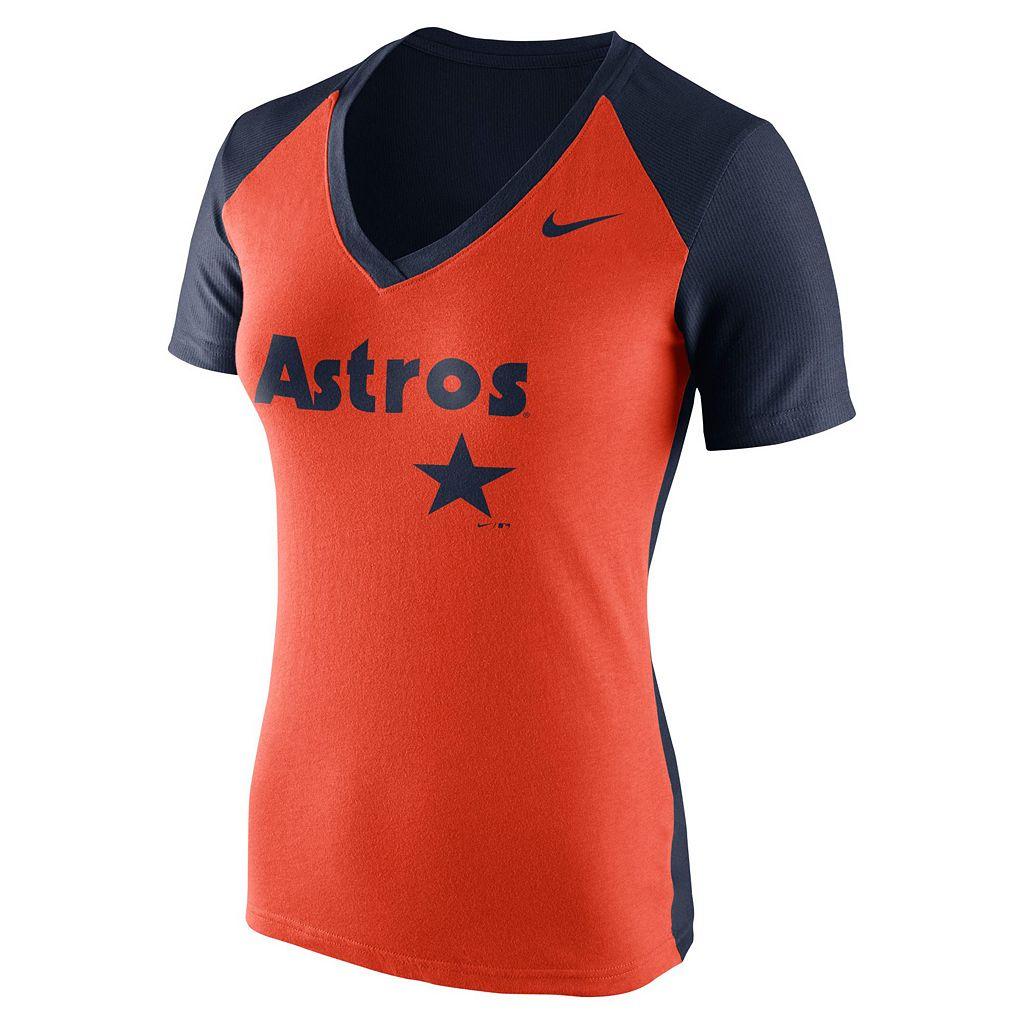 Women's Nike Houston Astros Cooperstown Fan Tee