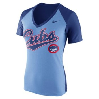 Women's Nike Chicago Cubs Cooperstown Fan Tee