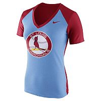 Women's Nike St. Louis Cardinals Cooperstown Fan Tee