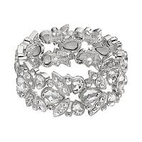 Simulated Crystal Geometric Stretch Bracelet