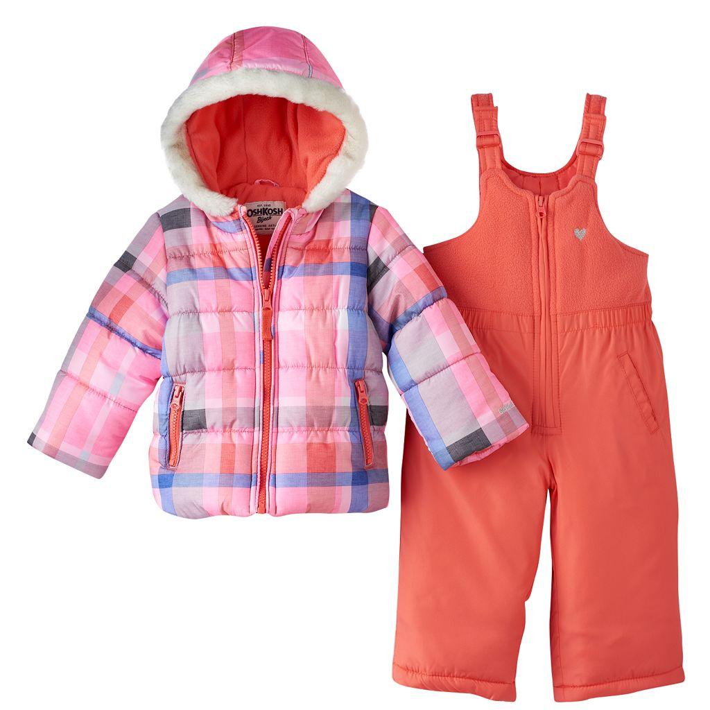 Baby Girl OshKosh B'gosh® Print Puffer Jacket & Snow Pants Set