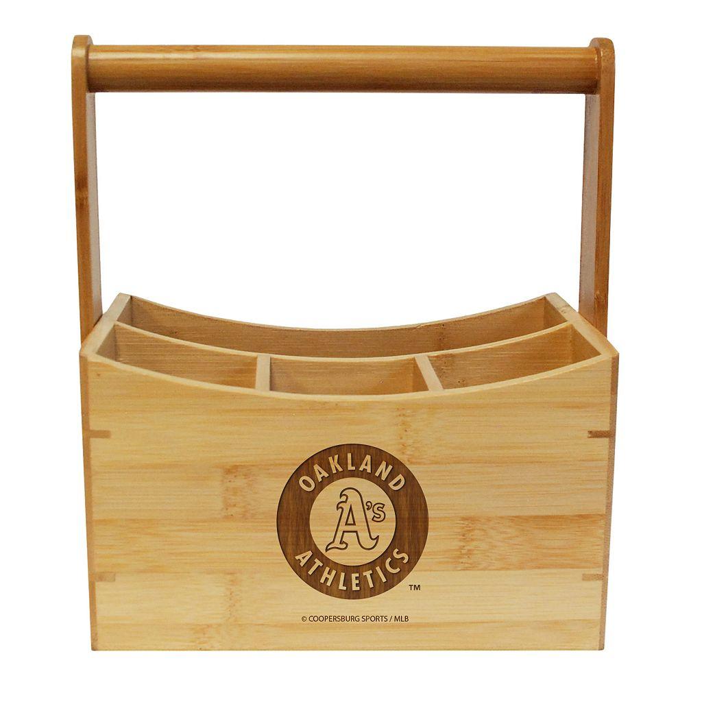 Oakland Athletics Bamboo Utensil Caddy