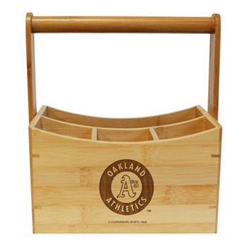 Oakland Athletics Bamboo Utensil Caddy