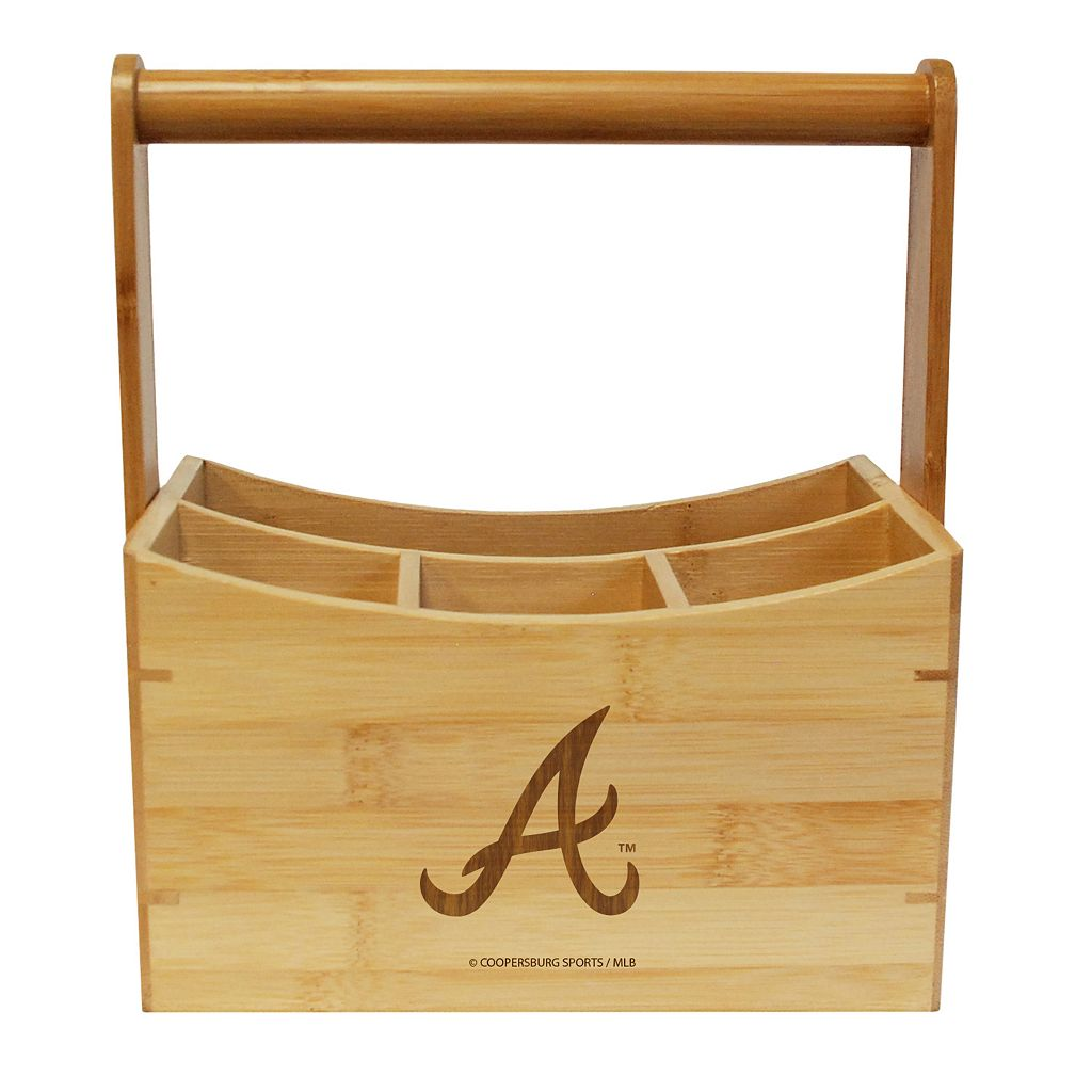 Atlanta Braves Bamboo Utensil Caddy
