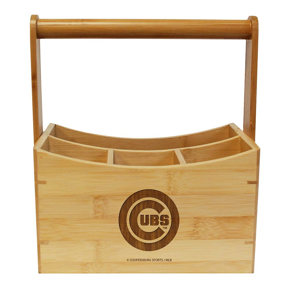 Chicago Cubs Bamboo Utensil Caddy