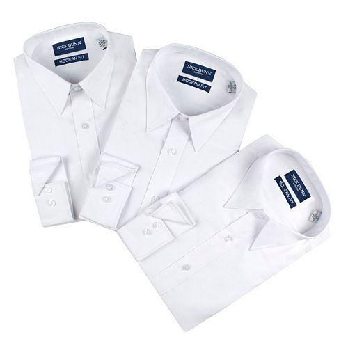 Men's Nick Dunn 3-pack Modern-Fit Dress Shirts
