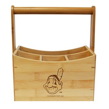 Cleveland Indians Bamboo Utensil Caddy