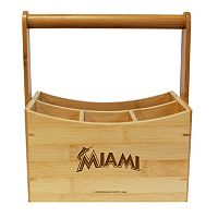 Miami Marlins Bamboo Utensil Caddy