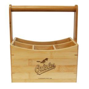 Baltimore Orioles Bamboo Utensil Caddy