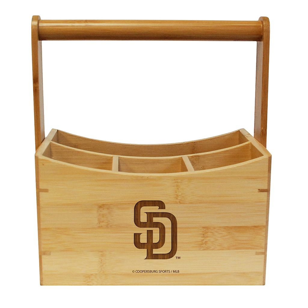 San Diego Padres Bamboo Utensil Caddy