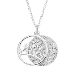 Disney's Cinderella Crystal 'Fairy Tale Moments Await' Layered Disc Pendant