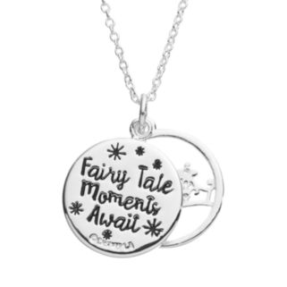 "Disney's Cinderella Crystal ""Fairy Tale Moments Await"" Layered Disc Pendant"