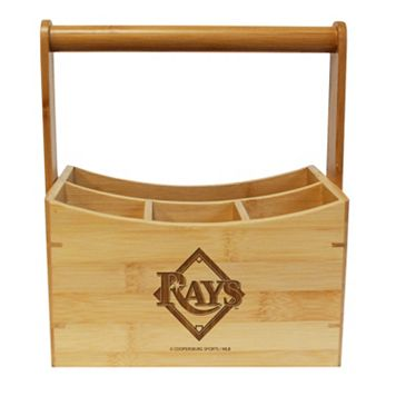 Tampa Bay Rays Bamboo Utensil Caddy