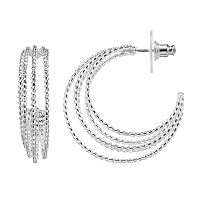 Napier Rope Layered Hoop Earrings