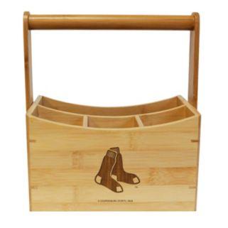 Boston Red Sox Bamboo Utensil Caddy