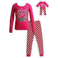 Girls 4-14 Dollie & Me Santa's Sweetie Pajama Set