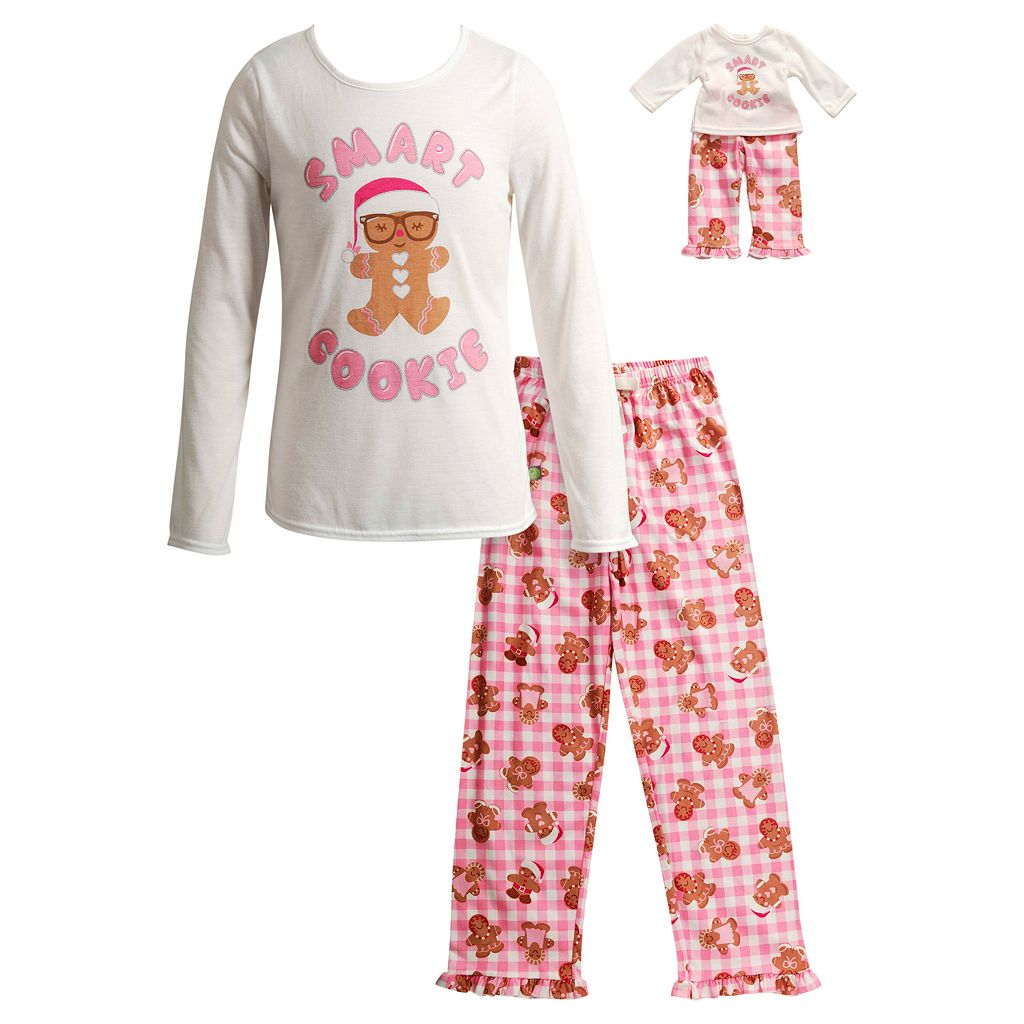Girls 4-14 Dollie & Me Smart Cookie Pajama Set