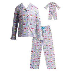Girls 4-14 Dollie & Me Polar Bear Pajama Set