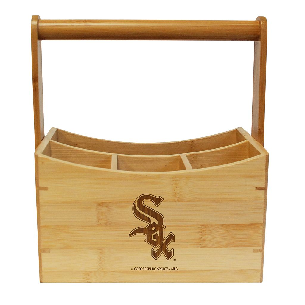 Chicago White Sox Bamboo Utensil Caddy