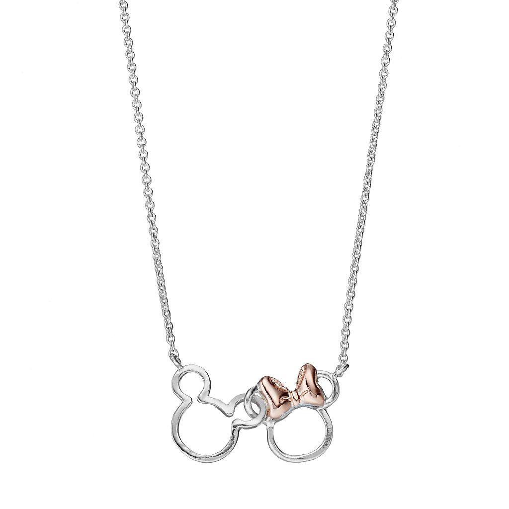 Disney's Mickey & Minnie Mouse Interlocking Link Necklace