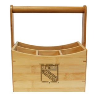 New York Rangers Bamboo Utensil Caddy