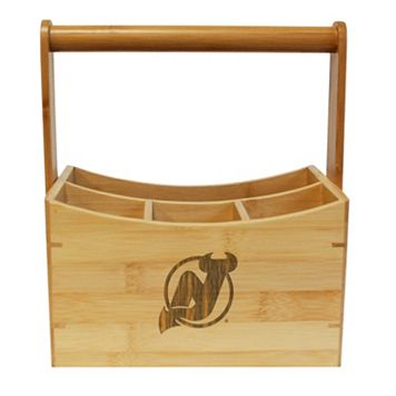 New Jersey Devils Bamboo Utensil Caddy